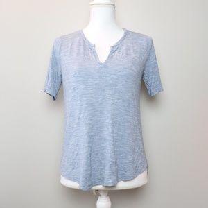 Madewell Heathered Blue V-Neck Short Sleeve TShirt